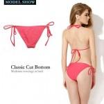 Nzswimwear 2019 New Sexy Watermelon Red Triangle Top with Classic Cut Bottom Bikini Swimwear Nz (Size: S/M/L)