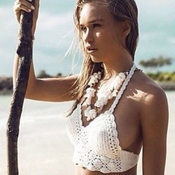 Crochet Beige Bikini Bustier Women Swimwear Nz Beach Wear 2019 Summer Trends