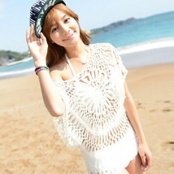 Women's Lace/Polyester Sexy Hollow Out Kintting Cover-Ups