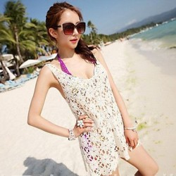 Women's Lace/Polyester Sexy Sweet Hook Flower Cover-Ups