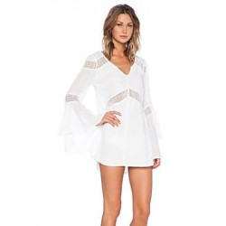 Women's Sexy Flare Sleeve Cover-ups Dress