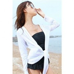 Women's Stylish White Cotton Long Sleeve Blouse