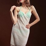 Women's Fashion Sexy Lace Knitting Embroidered Deep V Bare Back Gallus Beach Dress