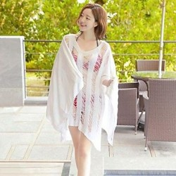 Women's Fashion SexyWhite Hollow Crochet Summer Swimsuit Nz Swimwear Nz Bikini Cover Up Beach Dress