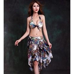 Nzswimwear® Women's Floral Print Three Pieces Push Up Bikini