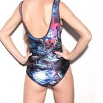Elonbo Women's Alien War Style Digital Painting Sexy Swimsuit Nz One-Piece Swimwear Nz