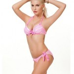Women's Sexy Stripe Halter Push Up Bikini Swimwear Nz