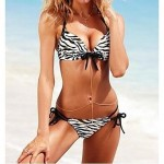 Women's Fashion Sexy Black Zebra Split Push Up Bikini Set Swimwear Nz Swimsuit Nz Bathing Suit