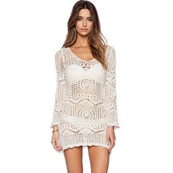 Women's Sexy Summer Hollow-out Crochet Beach Dress