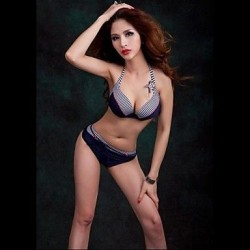 Nzswimwear® Women's Push-Up Plus Size Steel Care Bikini Halter Top