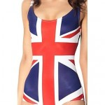 UK Flag Women Polyester Wireless Halter One-size One-pieces Swimwear Nz