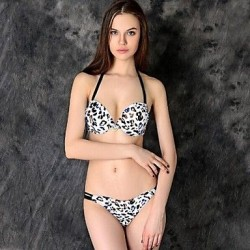 Women's Halter Leopard Sexy Beach Wear Bikini Swimwear Nz