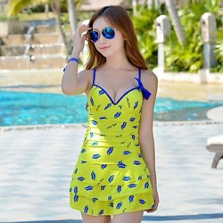 Summer New Woman's Elegant Goddess Layered Falbala Lip Print One Piece Swimsuit Nz
