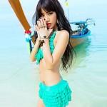 Sheqi Women's Sweet Girl Style Push-up Bikini Swimming Suit