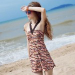 Lovely Girl Summer Beach One-Piece Slim Swim Dress