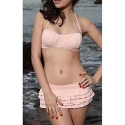 Women's Halter Ruffles Bikini