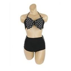 Women's High Waist Bowknot Sexy Bikini 8001