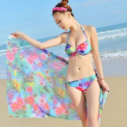 Women's Bathing Suit With Mantle Three Piece Suit Swimwear Nz