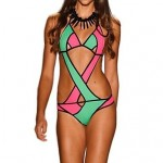 Women Multicolor Cotton Blends Padded Bras One-pieces Swimwear Nz