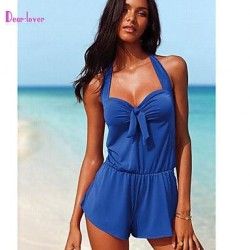 Women's Wireless/Padded Bras Cross/Solid/Bandage Halter Cover-Ups (Polyester/Spandex)