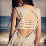 Sexy Backless Hollow Out Base Sport Vest Cotton Spandex Bustier Bra Beach Top