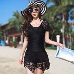 Women's Translucent Design Skirt Slim Was Thin Piece Swimsuit Nz