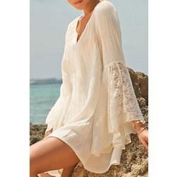 Women's Summer Boho Bell Lace Sleeve Beachwear