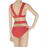 Women's Red Two Pieces Bandage Swimsuit Nz