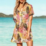Women's Nylon/Polyester Fashion Sexy Coconut Palm Print Cover-Ups
