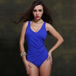 Nzswimwear 2019 New Arrival Women's Sexy Swimwear Nz Push Up Plus Size One Piece With Pleat Design