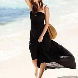 Women's Fashion Sexy Solid Bohemia Swimwear Nz Swimsuit Nz Bikini Beach Cover Up Holiday Long Dress