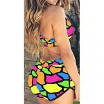 Women's Sexy Color Printing Two Piece Swimwear Nz