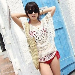 Women's Sexy Cut Out Flower Cover-ups