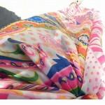 Women's Stylish Colorful Printing Chiffon Beach Towel Cover-up