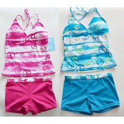 Retail New arrival Swimsuit Nz Swimwear Nz For 6-16Y kids students teenagers Bathing Suit Tankini Beachwear