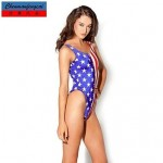 Nzswimwear®Women's Sexy American Flag Elasticated Bathing Suit Suit Sexy Print Bodycon Jumpsuit