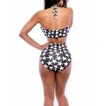 Women's Sexy Bandage Star Print Swimwear Nz