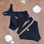 Women's Sexy Zipper Open Bathing Swimwear Nz Bikini Set