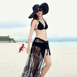 Blcak lace beach cover up new arrival high quality swim cover up special designed brand super deal lace cover up