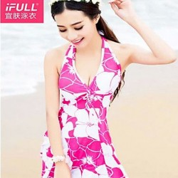 A woman's sexy swimsuit fashion flowers