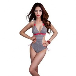 Nzswimwear® Women's Push-Up Plus Size Lovely Striped Monokini