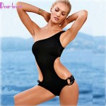 Women's Push-up/Wireless/Padded Bras Solid/Bandage Halter One-pieces (Polyester/Spandex)
