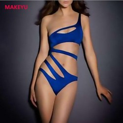 MAKEYU Women's Sexy Bikini One Shoulder High Waist Swimwear Nz