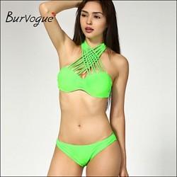 Burvogue Women's Sexy 2PCS Swimsuit Nz Swimwear Nz Bathing Suit Beachwear Bikini Set