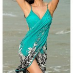 Free Ship Hot Selling Women's Sexy Swimwear Nz Floral Bikini Swim Suit Girls Summer Dress One Piece Cover Up Beach Dress