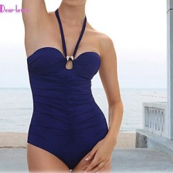 Women's Push-up/Underwire Bra/Padless Bra High Rise/Solid/Bandage Halter One-pieces (Polyester/Spandex)