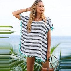 2019 New V-Neck Tassel Sleeve Sexy Swimsuit Nz Beach Cover Up Swimwear Nz Women Summer Style Plus Size Dress Beachwear