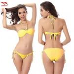 Swimmart® Women's Solid Bandeau Bikinis (Polyester)