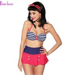 Women's Push-up/Padded Bras/Underwire Bra/Padless Bra High Rise/Color Block Halter Multi-pieces (Polyester/Spandex)