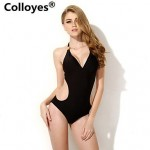 Nzswimwear Women Black One-piece Cut-out Side Bikinis Swimwear Nz